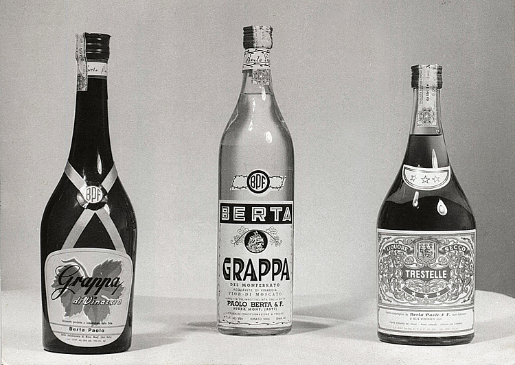 1965. Paolo and Lidia's grappas.