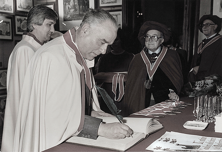 1979. Paolo being nominated a 'Knight of the Lands of Asti and Monferrato'.