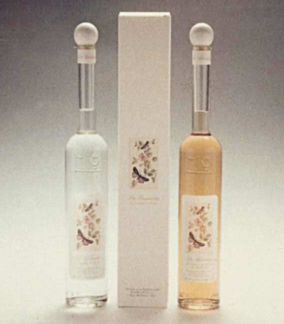 1984. The innovative bottles of the eighties and blown glass.