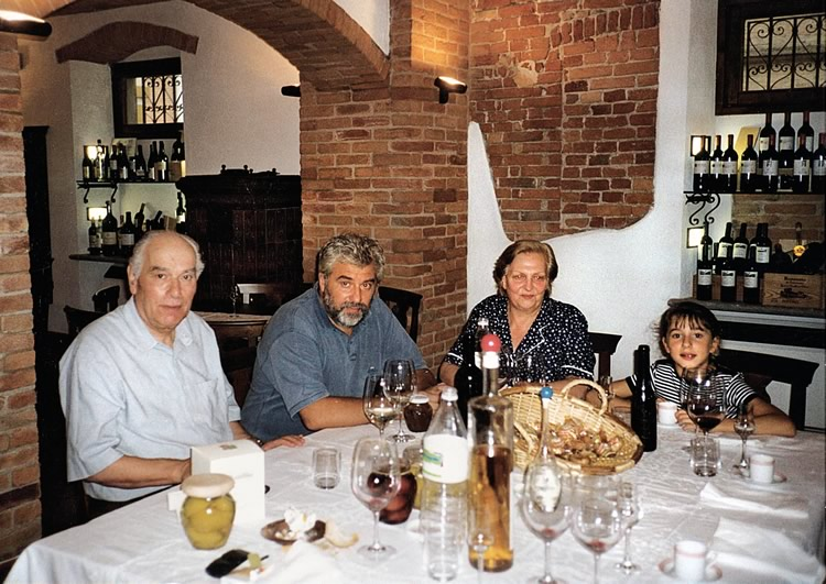 1995. Paolo, Gianfranco, Lidia and little Annacarla.