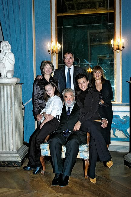 2004. Gianfranco and Enrico with their wives, Simonetta and Elisabetta, and daughters Annacarla and Giulia. The tradition continues.